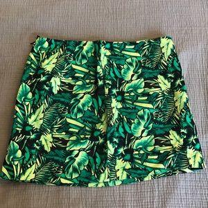 H&M Green palm print miniskirt